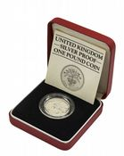 1984 Silver Proof Piedfort One Pound